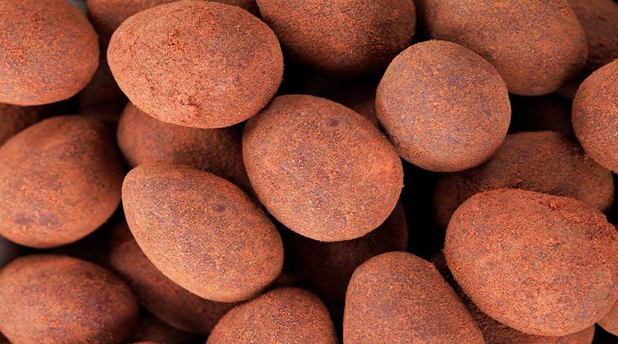 Almendras con chocolate con leche y canela ecológicas