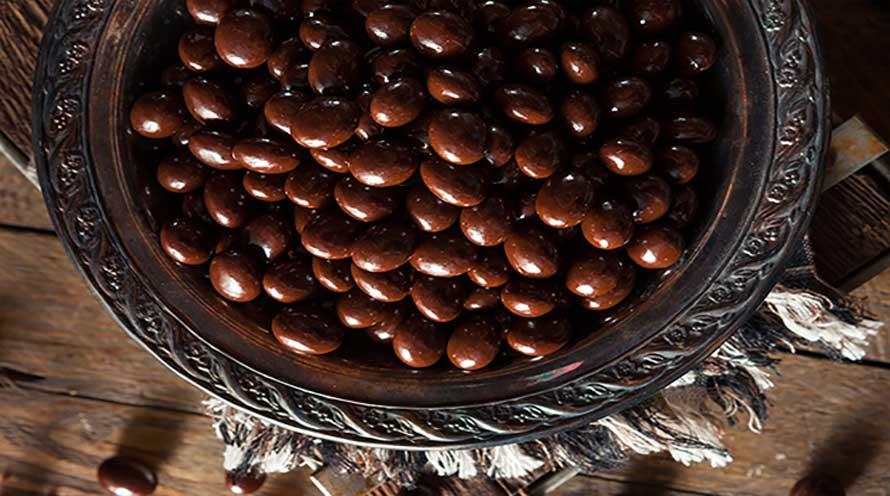 Almendras con chocolate negro ecológicas